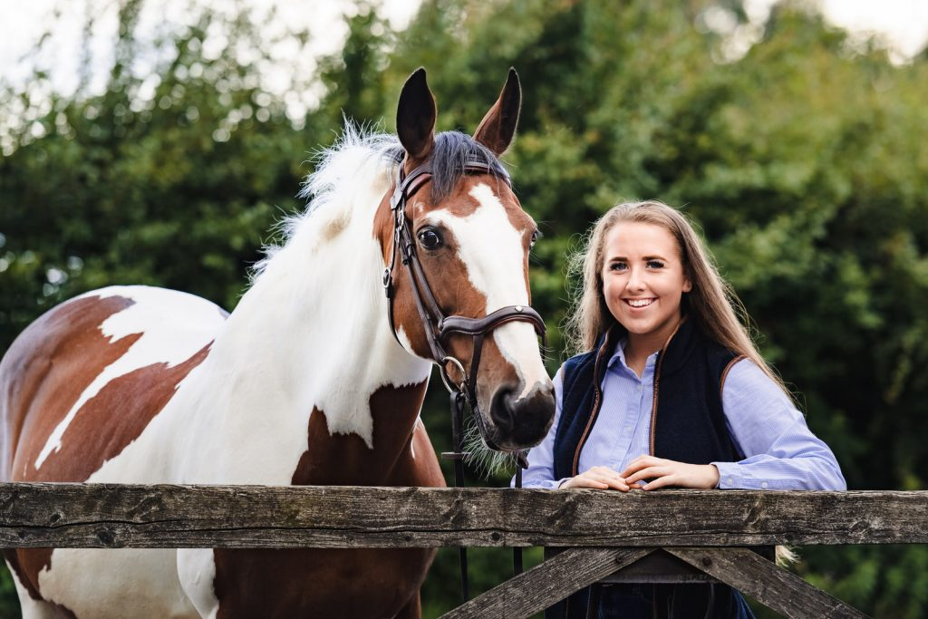 rutland pet photography portrait of girl with horse